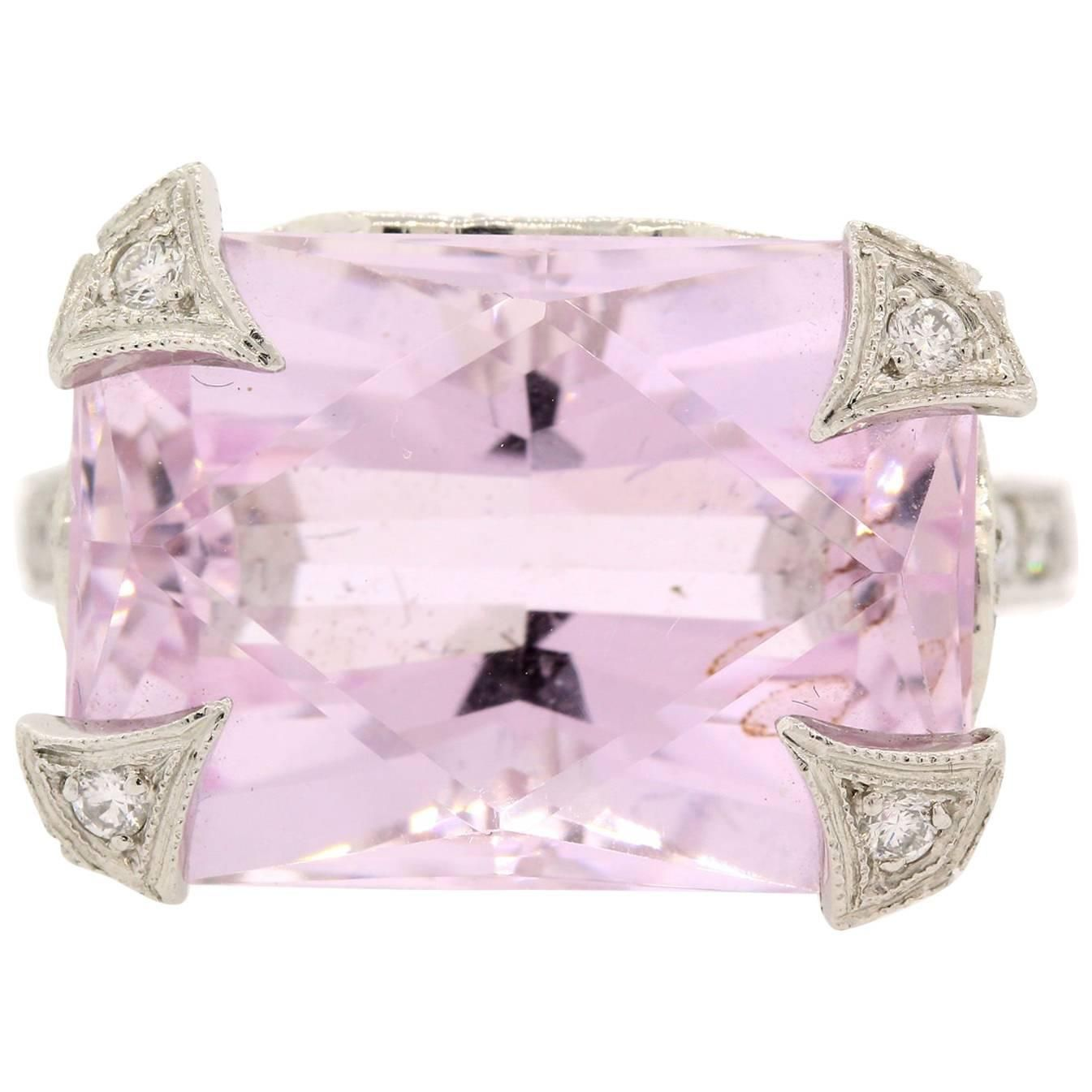 Cathy Waterman Kunzite Diamond Platinum Ring | Cathy waterman ...