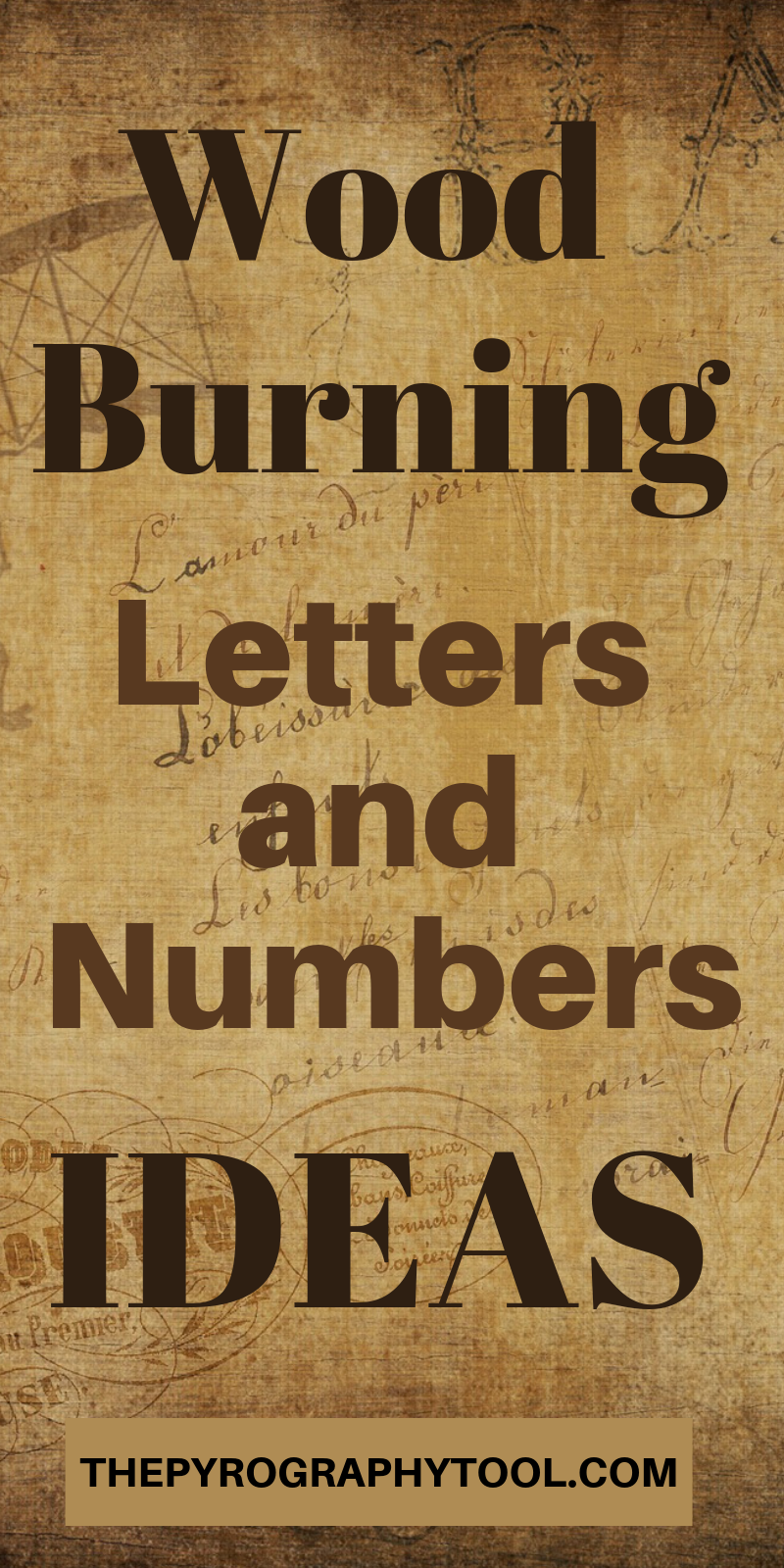 Photo of Wood Burning Letters and Numbers Ideas