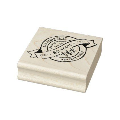 your logo school or business badge rubber stamp