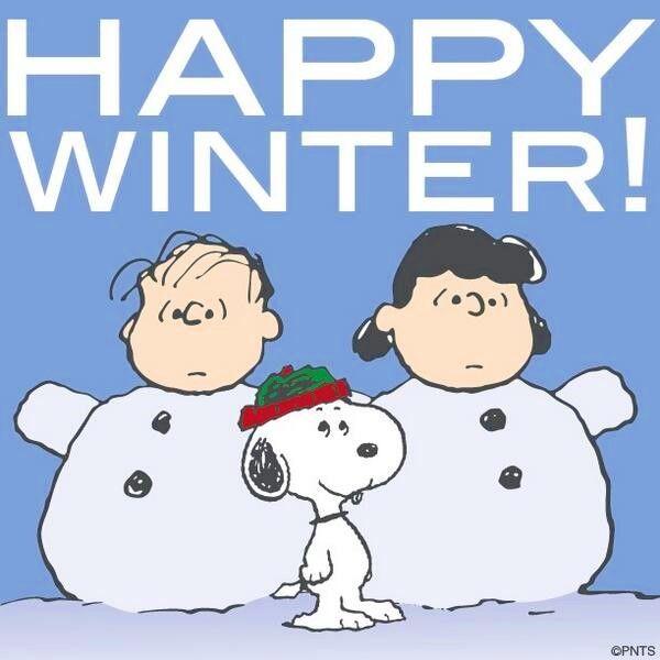 Snoopy Happy winter quote