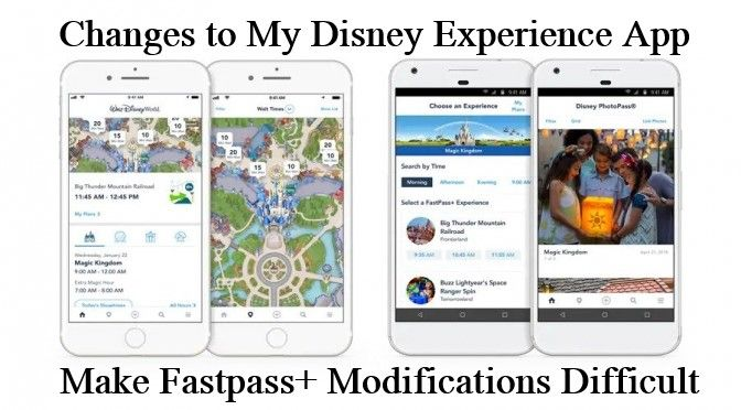 New My Disney Experience Update Makes Changing Fastpasses