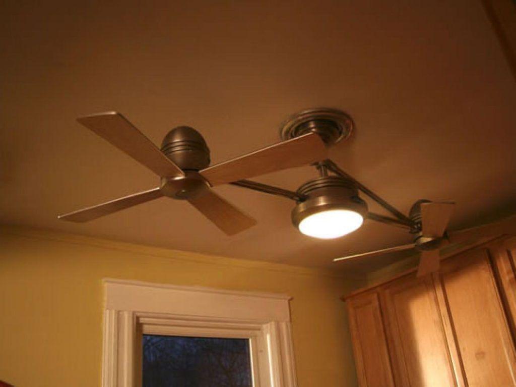 Ceiling Fan Gorgeous Dual Head Ceiling Fan Replace A Ceiling Fan