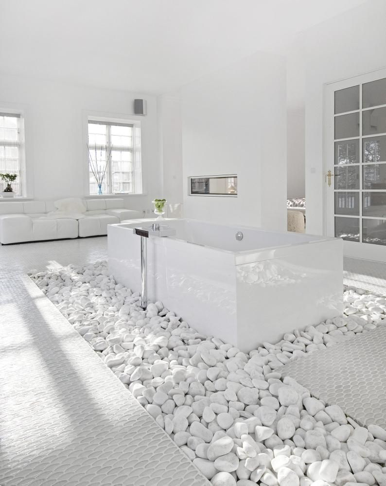 Lovely Unique Bathroom Design Ideas | Pinterest | White stone, Stone ...