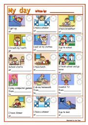 Worksheets Daily Schedule Worksheet daily schedule worksheet sharebrowse english routine guided writing lessons