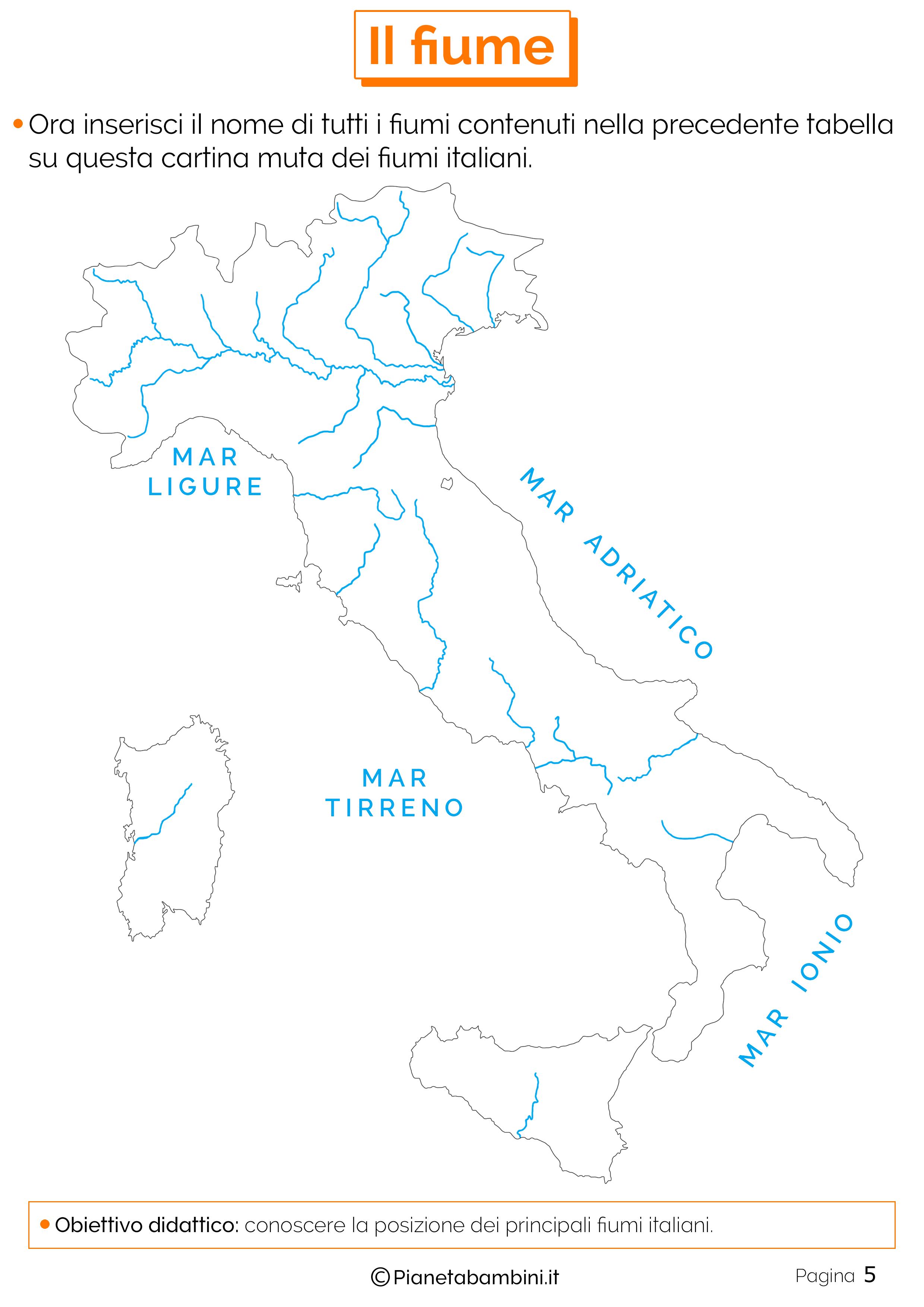 Cartina Italia Muta Fiumi.Il Fiume Schede Didattiche Per La Scuola Primaria Schede Didattiche Attivita Geografia Scuola