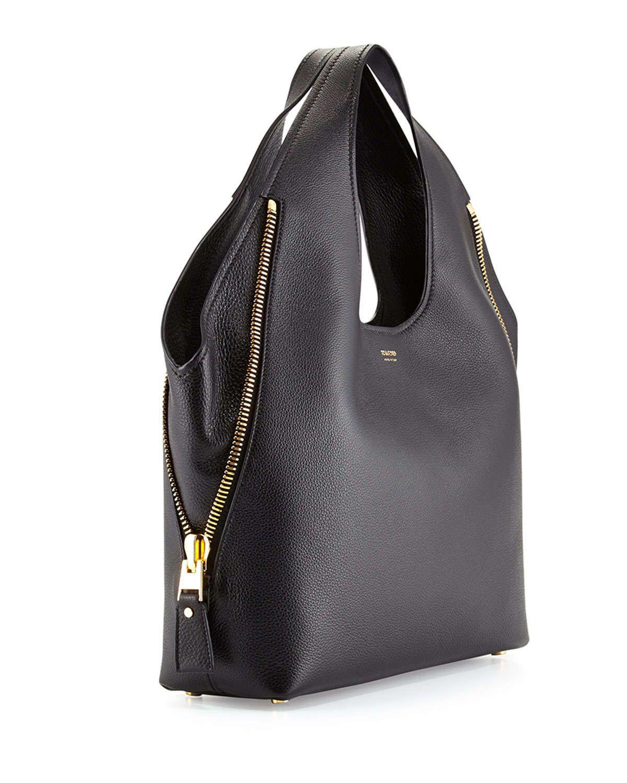 eabaf60048ad52 Jennifer Side-Zip Leather Hobo Bag, Black   something I like ...