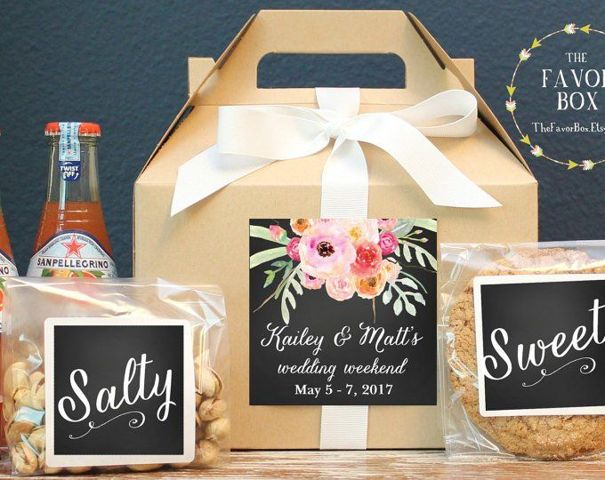 Set Of 6 Out Town Guest Box Wedding Welcome