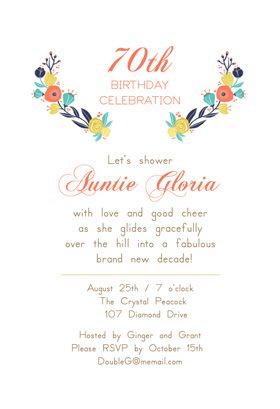 Gliding Over The Hill Printable Invitation Template Customize Add