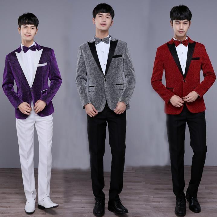 Blazer Men Formal Dress Latest Coat Pant Designs Suit Set Men
