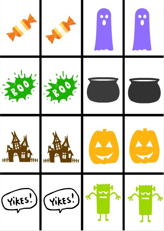 photograph regarding Memory Games Printable titled Halloween Memory Activity No cost Printable ☆ Hometalk Drop Do it yourself