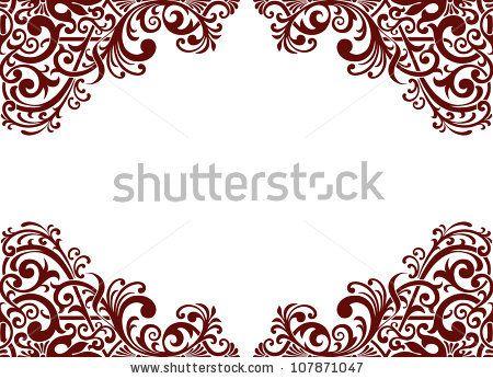 vector vintage baroque border frame card background flower motif Wedding Card Frame Border Vector vector vintage baroque border frame card background flower motif arabic retro pattern ornate stock vector wedding card frame border vector