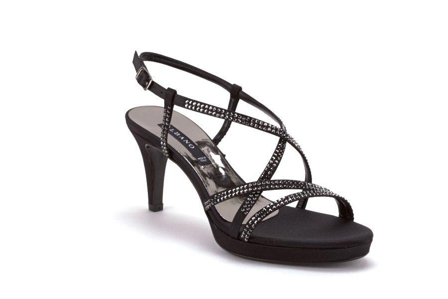 Sandali neri con tacco stiletto per donna Albano MKRtvFrK