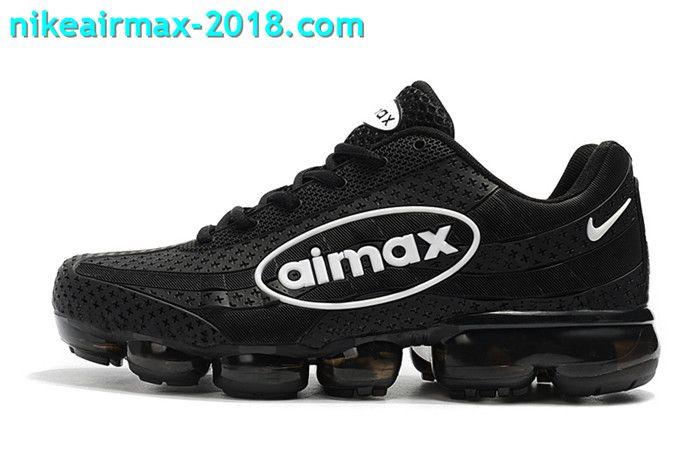 Nike Air Vapormax 95 KPU Mens Sport Shoes For Sale Black White ... 5e3f11050