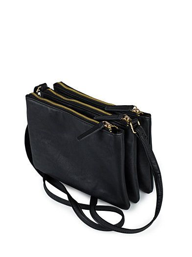 2efe5e397e Three Zipper Bag - Nly Accessories - Black - Bags - Accessories - Women -  Nelly.com Uk