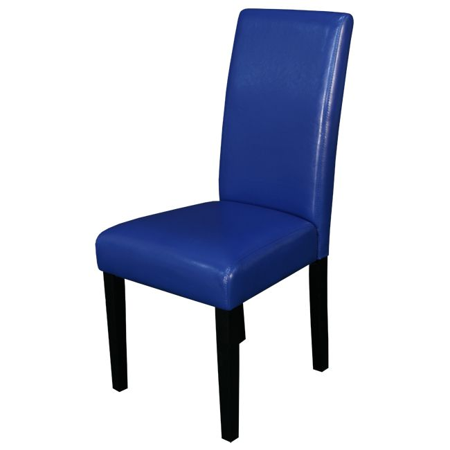 Villa Faux Leather Blue Dining Chairs (Set of 2) | Overstock.com Shopping - The Best Deals on Dining Chairs
