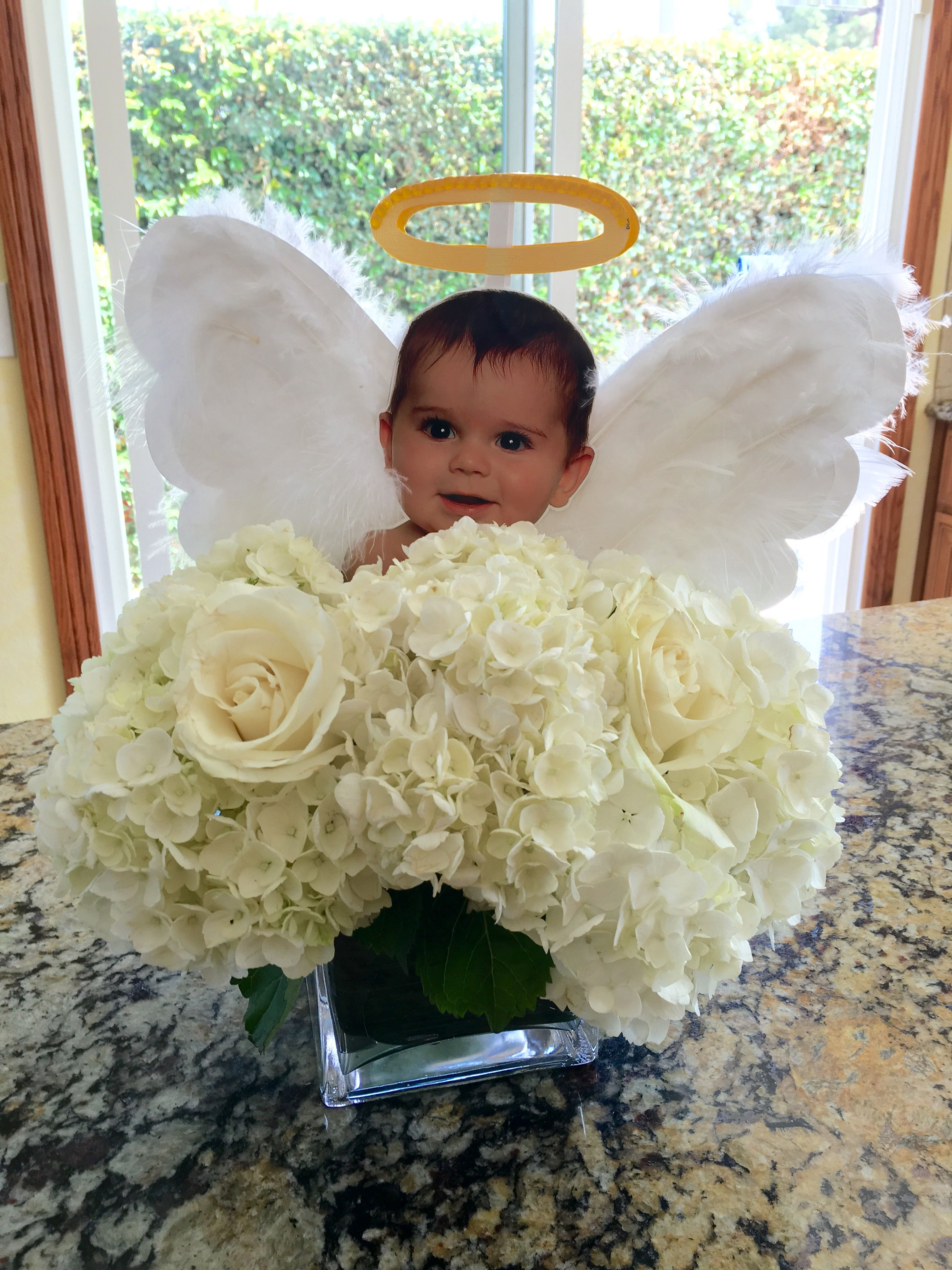 Angel Centerpiece Paaaartay Boy Baptism Centerpieces