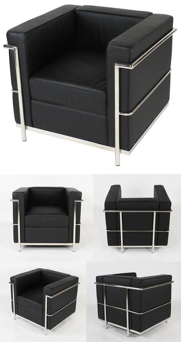Lc2 Le Corbusier Furniture Sofa Set Metal Furniture