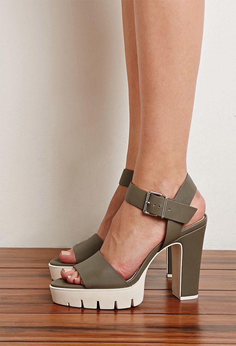 c8806fdb70 Lug Sole Platform Sandals | Forever 21 - 2000077889 | shopping files ...