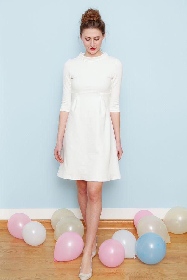 Meine Hommage an die 60's: Brautkleid aus mittelschwerem ...