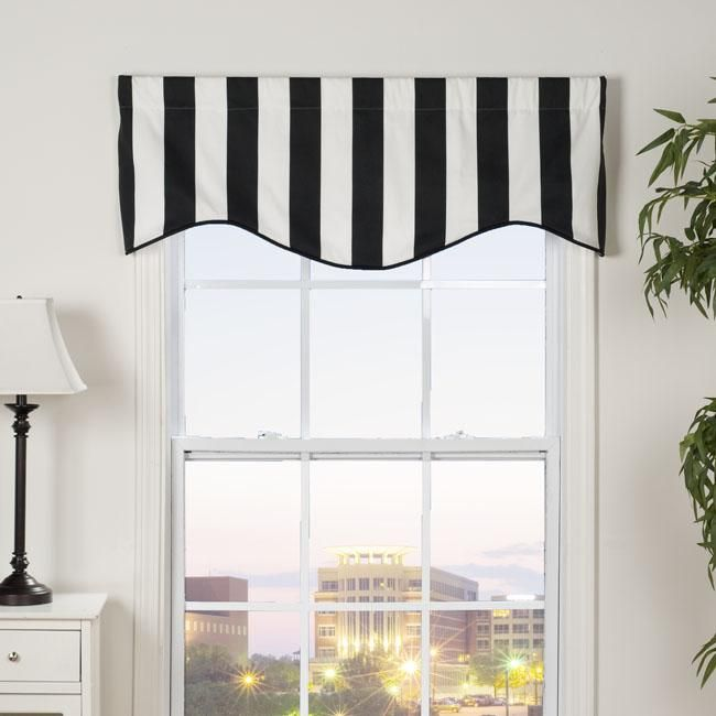 Black And White Kitchen Curtains: Midtown Shaped Valance In 2019
