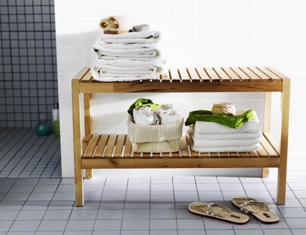 Create a spa feeling in your bathroom with the molger bench. it also