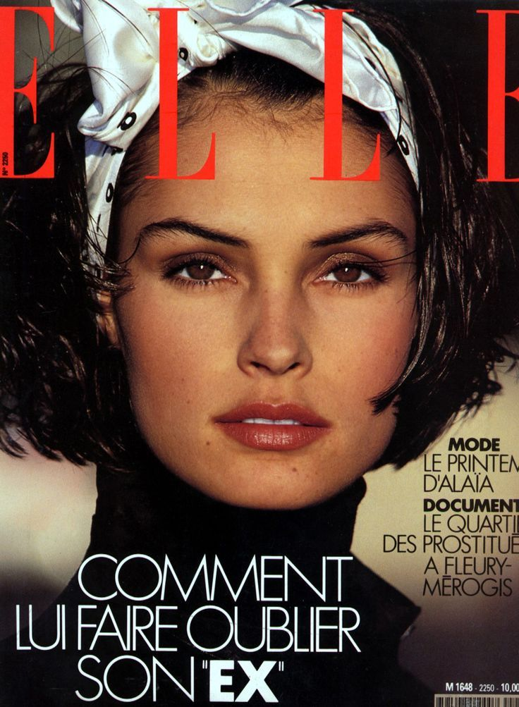 FAMKÉ JANSSEN | ELLE MAGAZINE FEBRUARY, 1989 COVER PHOTOGRAPHED BY GILLES…