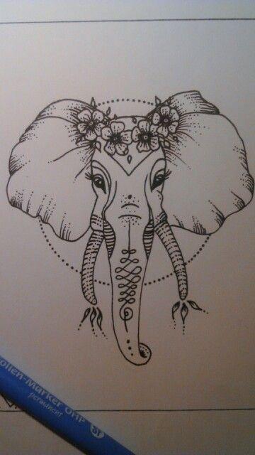 elephant draw tattoos pinterest tatouages dessin et tatouage l phant. Black Bedroom Furniture Sets. Home Design Ideas