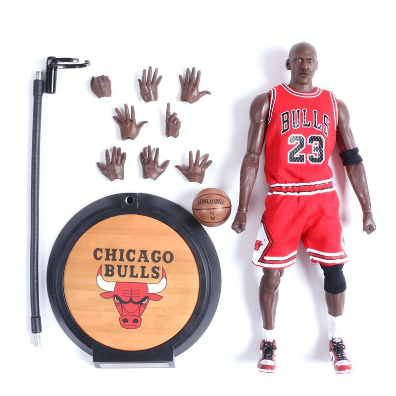 1e7264111d7d Michael Jordan 23 Red Jersey Action Figure Real Masterpiece 1 6 Kid Gift  Toy  MichaelJordan  ActionFigures  Statues
