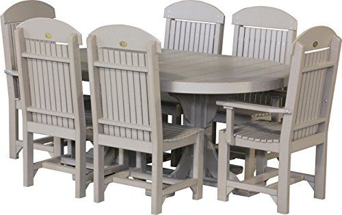 Luxcraft Recycled Plastic 4X6' Oval Table Set #2 With 2 Captain Inspiration Captain Chairs For Dining Room Design Inspiration