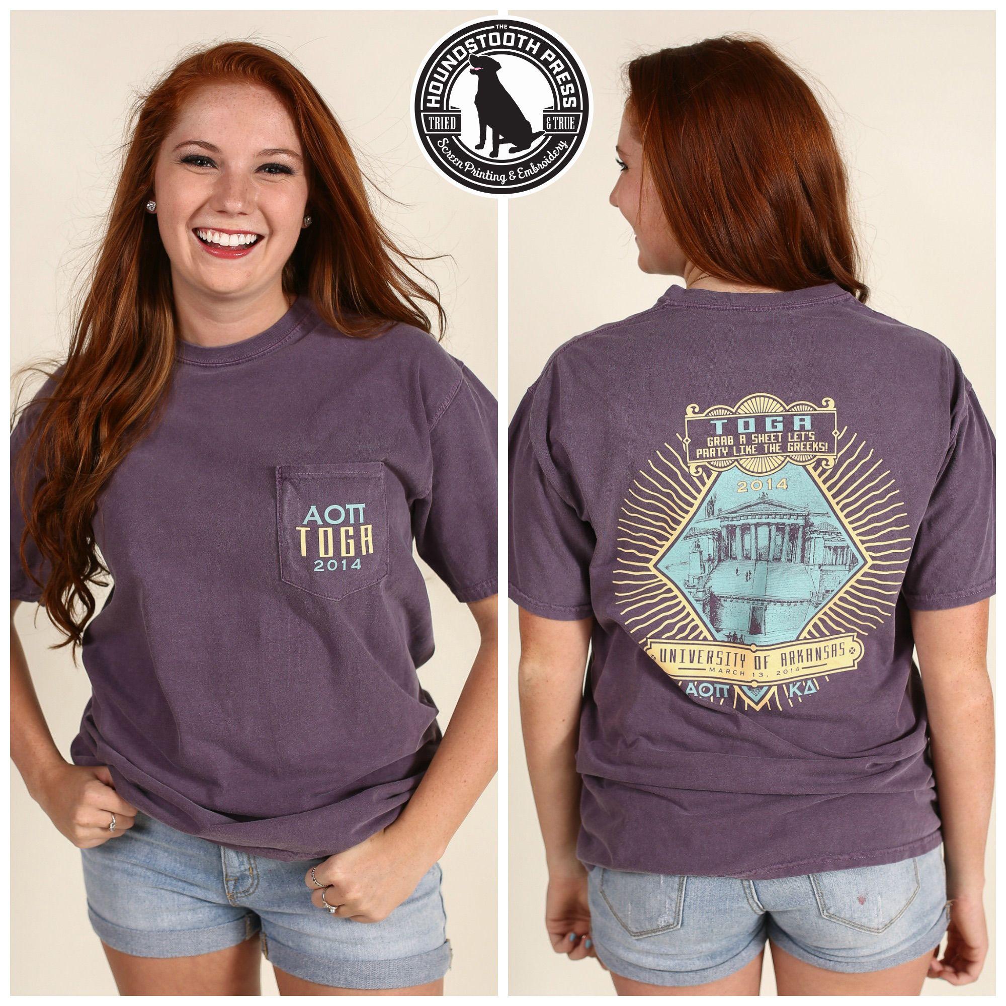 University Of Arkansas Alpha Omicron Pi Toga Function T Shirt