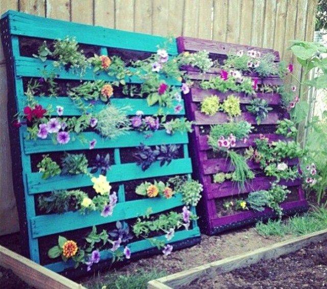 Recycler une palette en jardinière pour le jardin | Mobilier ...