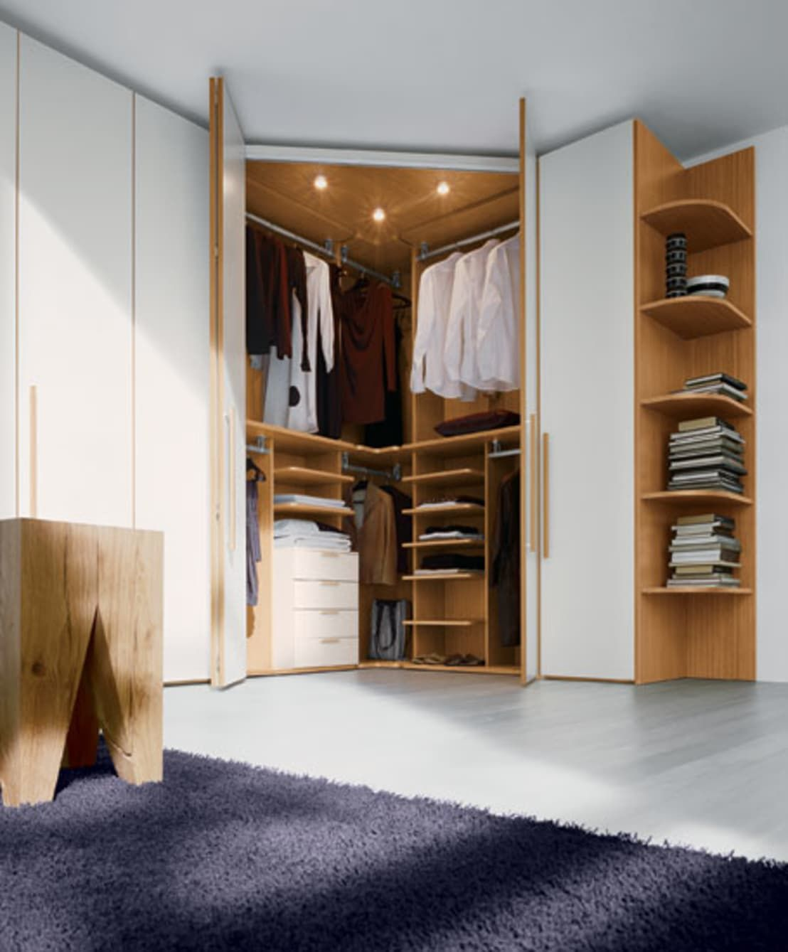 Built In Hinged Door Corner Wardrobe