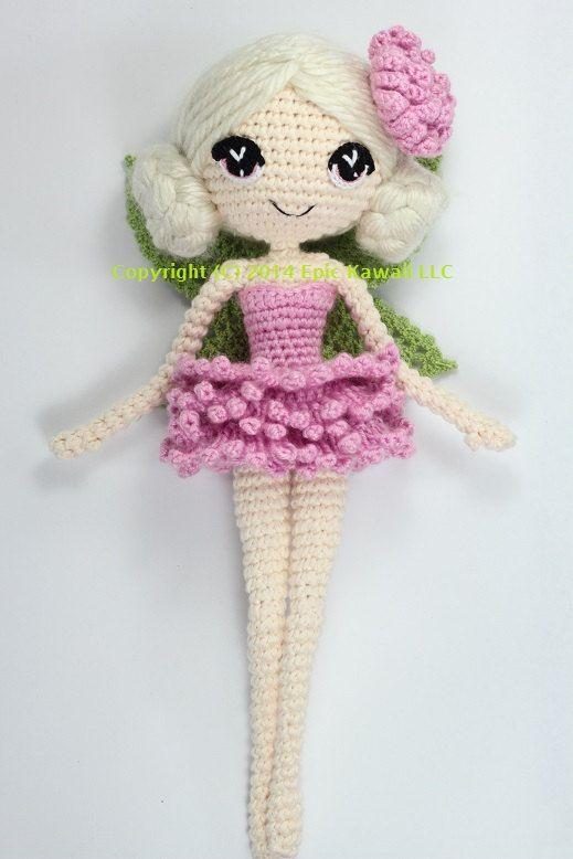 PATRÓN: Chrysanna el hada Albino Crochet Amigurumi por epickawaii ...