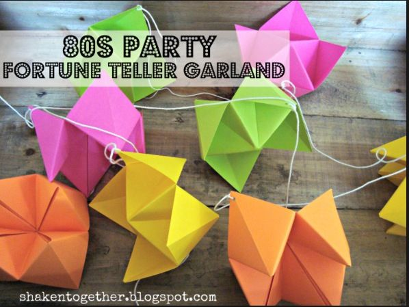 because someday i might want to make one of these fortune tellers for bunny and i might need a reminder of how create this party fortune teller