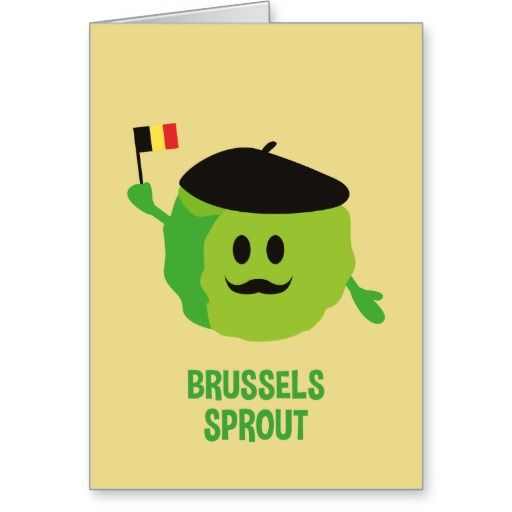 Brussels Sprout Christmas Card