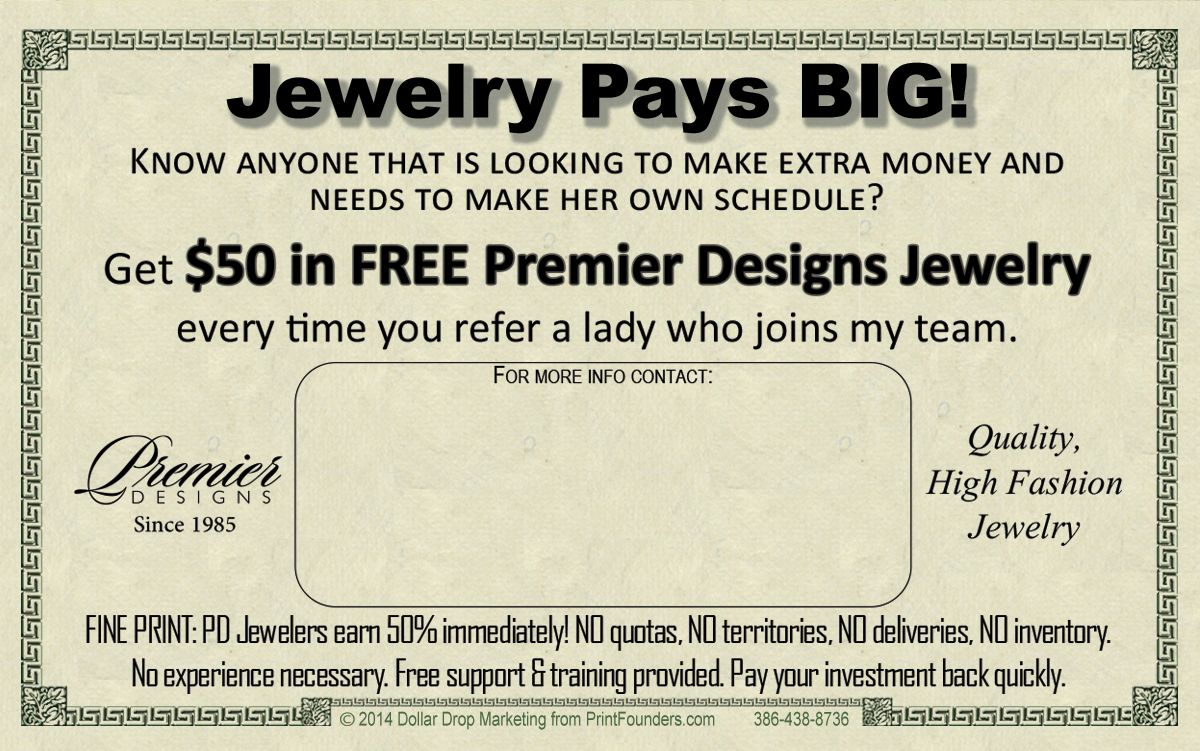 Attn: Premier Designs Distributors As a thank you for your business ...