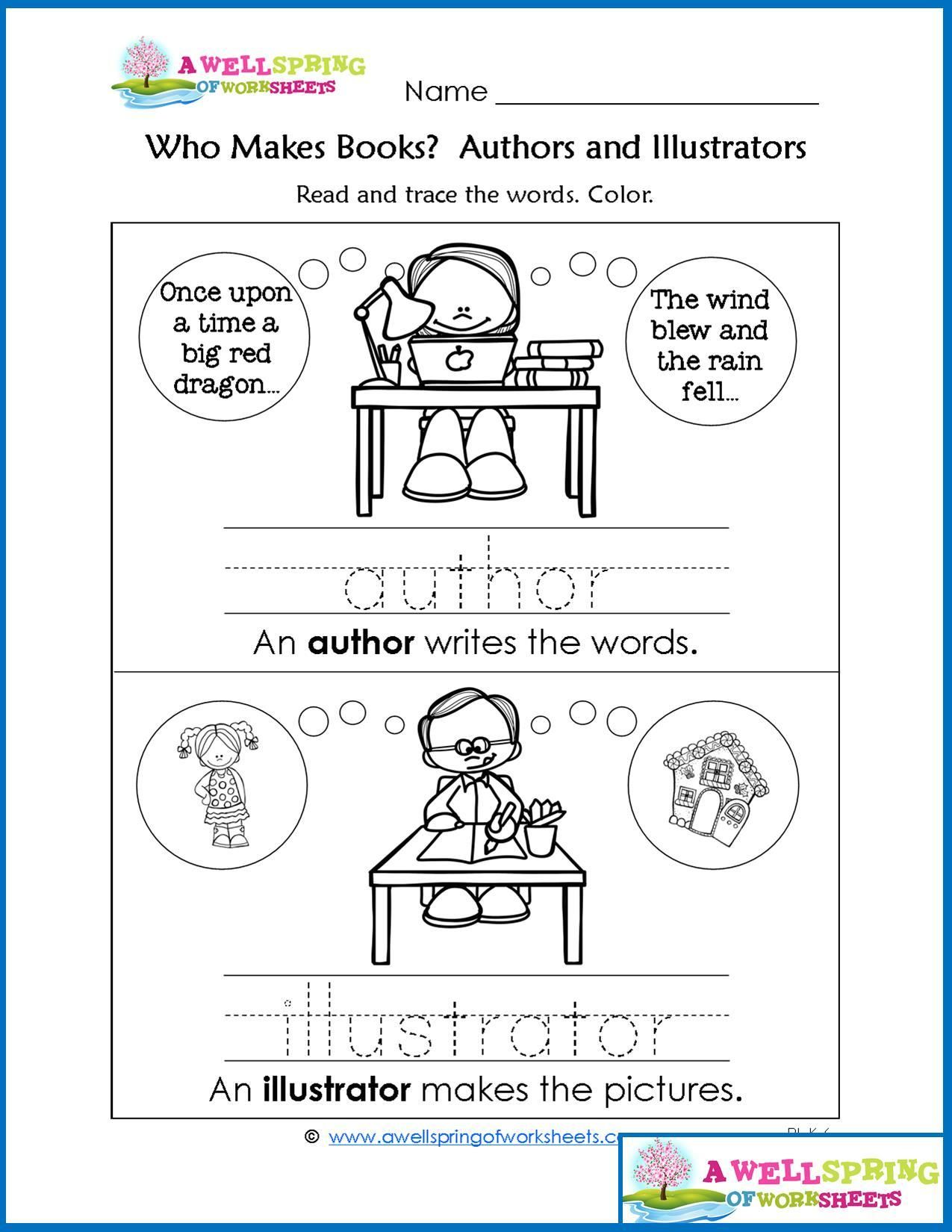Worksheets By Subject Parts Of A Book Vocabulary Cards