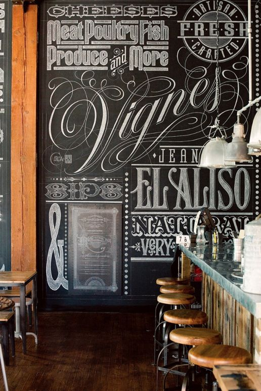Rooms: Chalkboard Illustration And Typography Creates A Personal