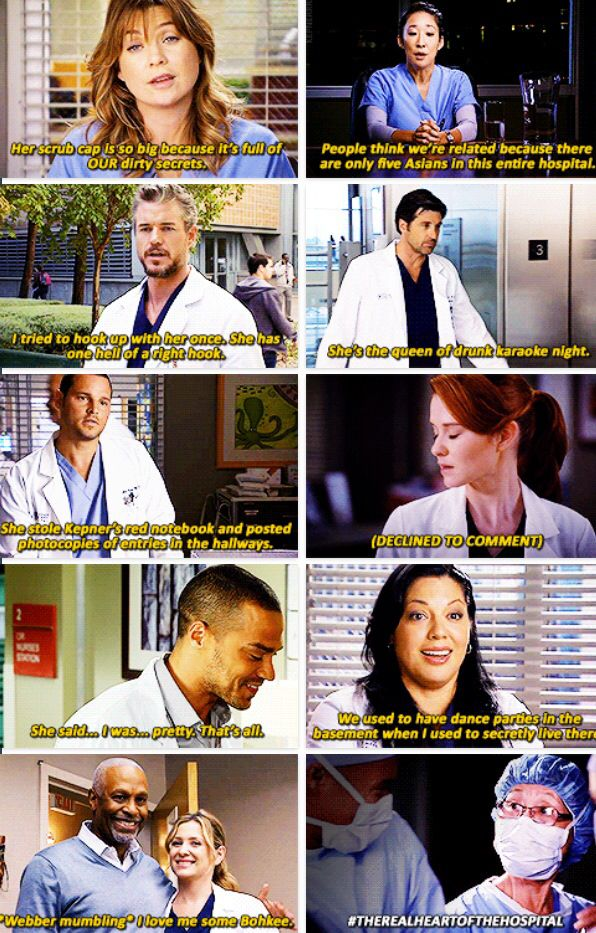 Greys anatomy cast hookup in real life
