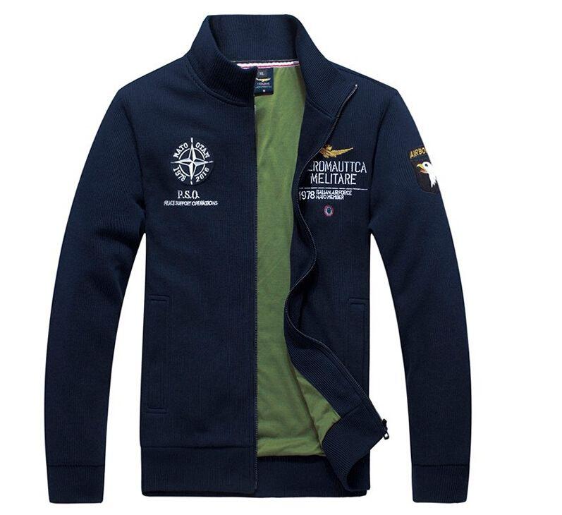Pas cher Marque Aeronautica Militare hommes 2015 vestes militaires vestes  manteau de sport pour hommes manteaux a819542c0391