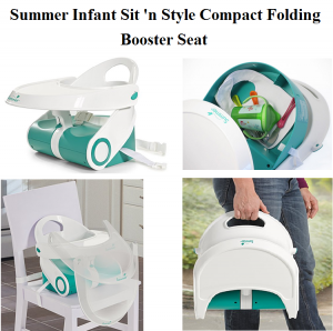 Check Summer Infant Sit 'n Style Compact Folding Booster Seats in white/teal from baby in travel feeding booster seats for eating, are innovative and latest versions of booster seats.
