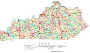 Kentucky Road Map | Travel