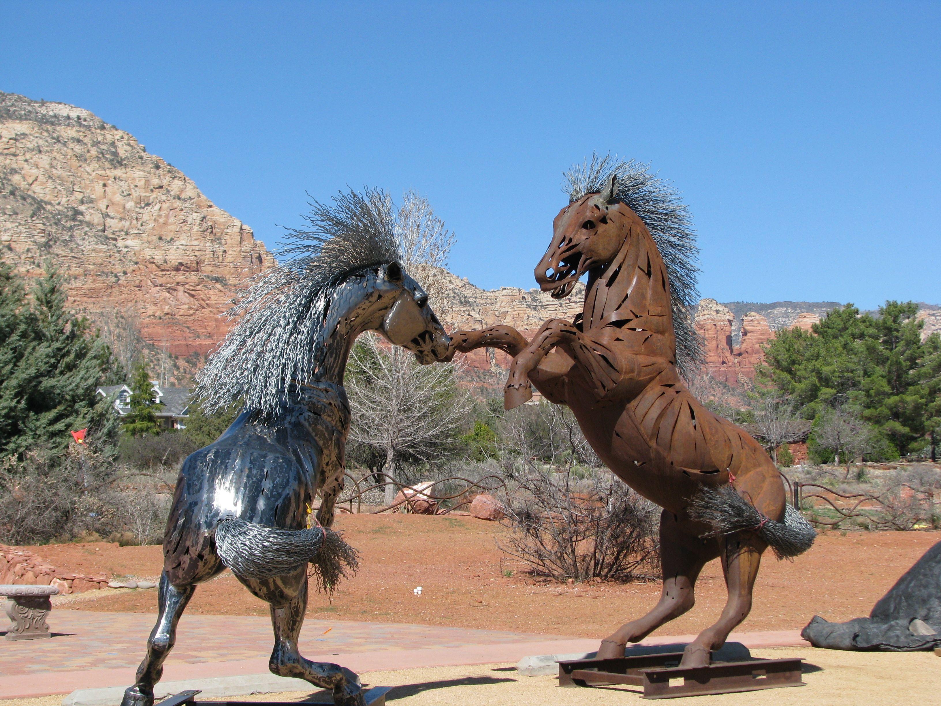 At the goldenstein gallery in sedona az horse