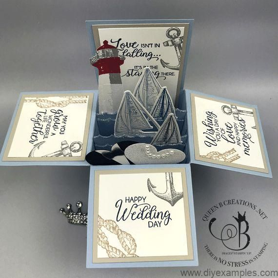 Stampin' Up! Sailing Home & High Tide Nautical Beach Lighthouse Wedding Card... #stampin#39;up!cards