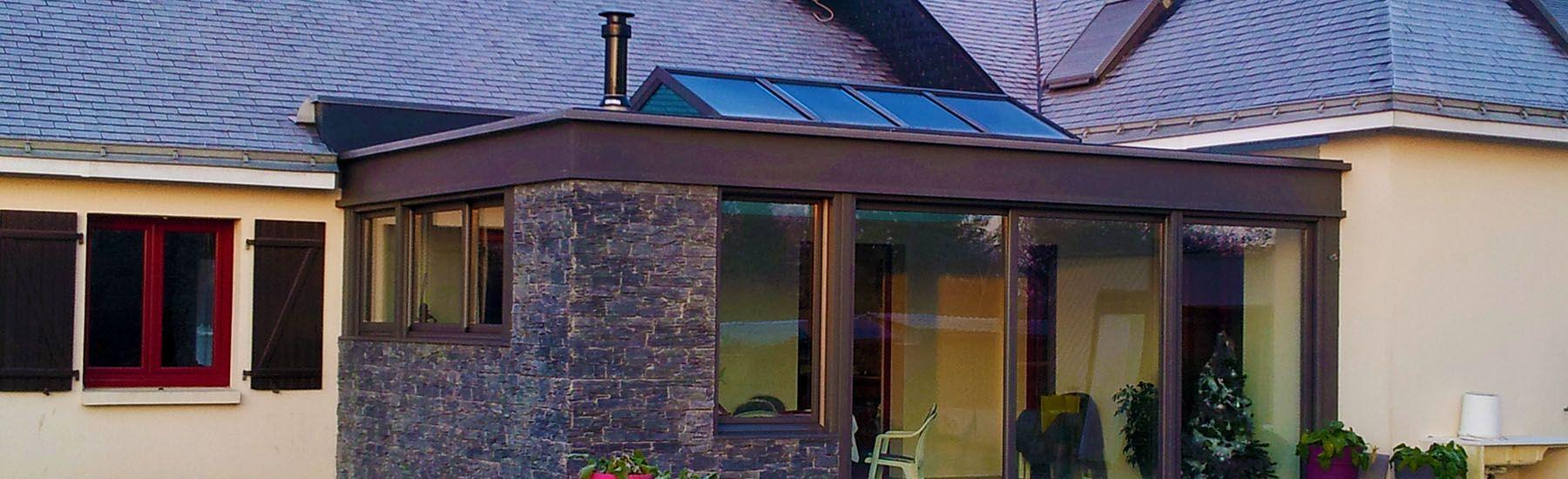 extanxia v randa concept alu vue ext rieur avec toit en ardoise et chemin e int gr e. Black Bedroom Furniture Sets. Home Design Ideas