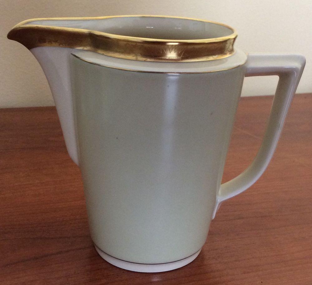 Vintage 1930's 1940's ? ART DECO Royal Copenhagen Denmark Fine Porcelain Pitcher #RoyalCopenhagen