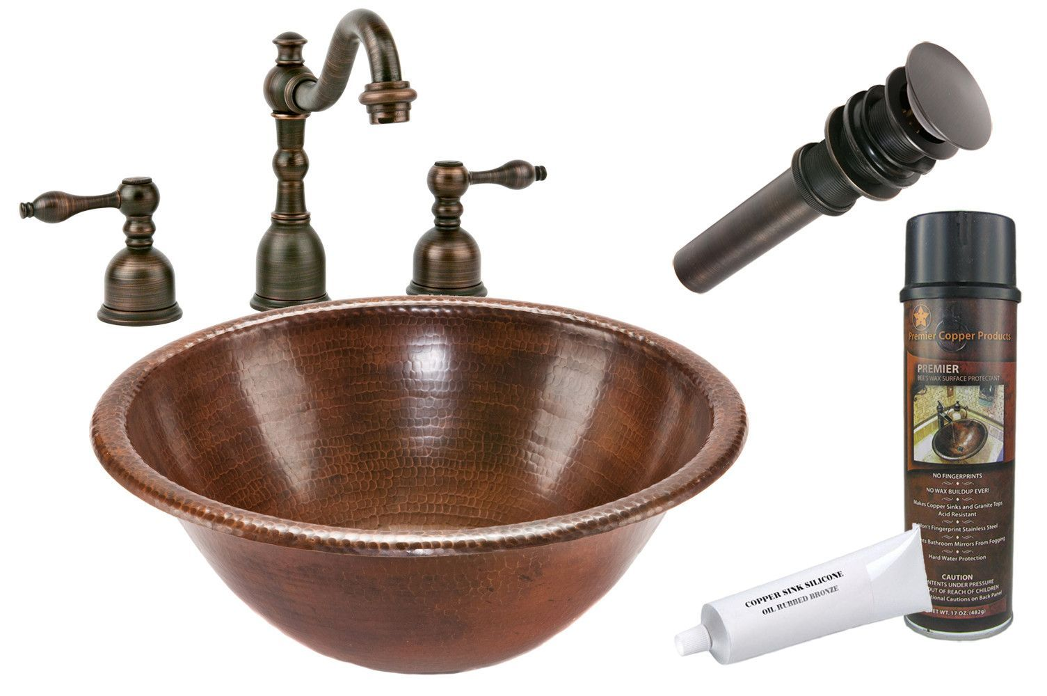 Metal Circular Drop In Bathroom Sink With Faucet Copper Bathroom Premier Copper Products Copper Sink Bathroom [ 1000 x 1505 Pixel ]