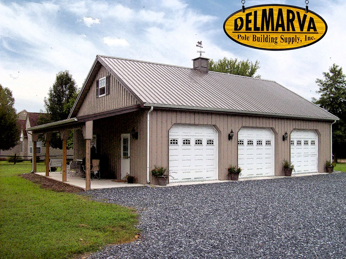 30x40x10 pole building residential pole buildings for Pole barn garage designs