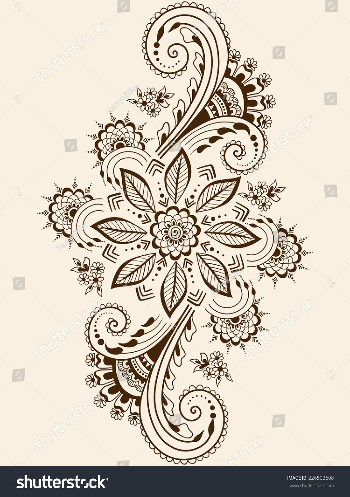 Arte Floral Vetor Vector Abstract Floral Elements In Indian Mehndi Style Abstract