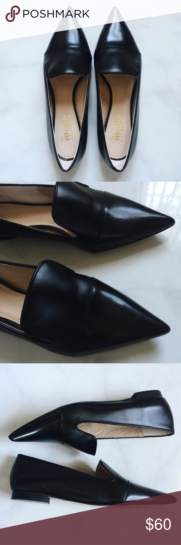Mode Collective Black loafer flats Mode Collective black loafer flats. Worn but good condition. Original price $239 Mode Collective Shoes Flats & Loafers